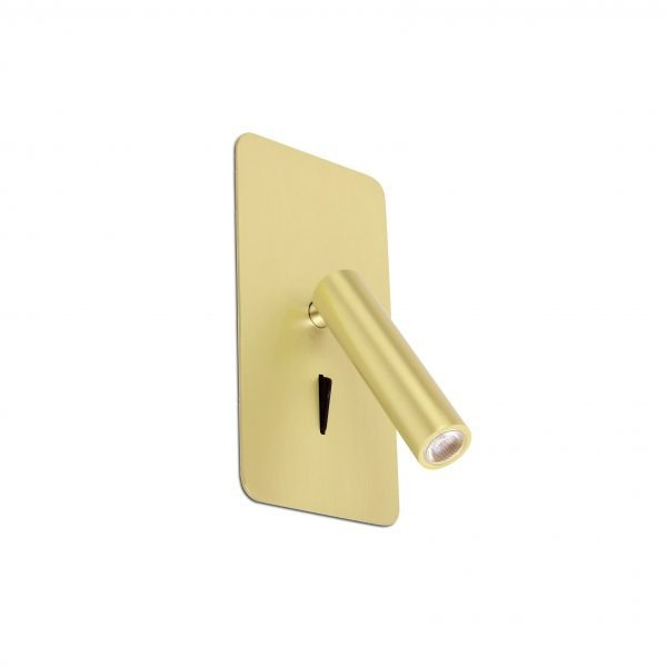 Bedroom lighting, Recessed wall light SUAU LED gold colour