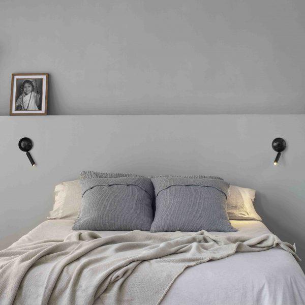 Bedroom lighting, Wall reading light PRESS Black