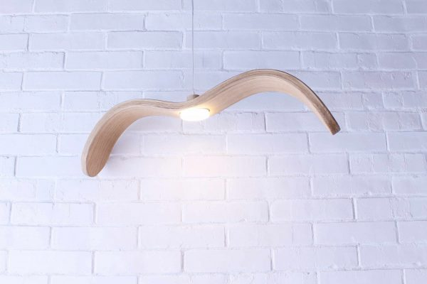 Handmade wooden lights, Suspended wooden light Bird