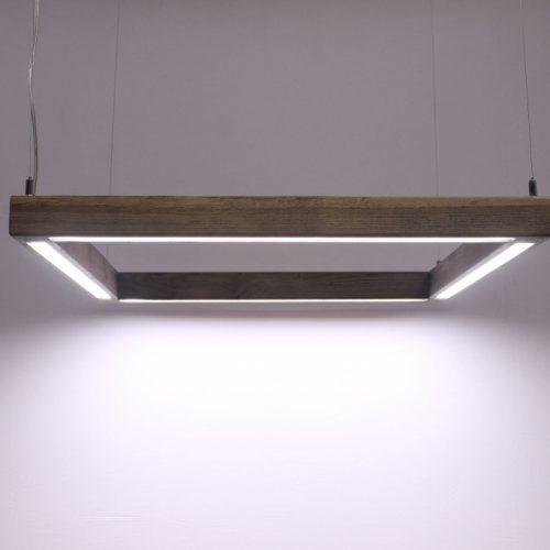 Pakabinami šviestuvai, Pakabinamas medinis šviestuvas Quadrat 60x60cm