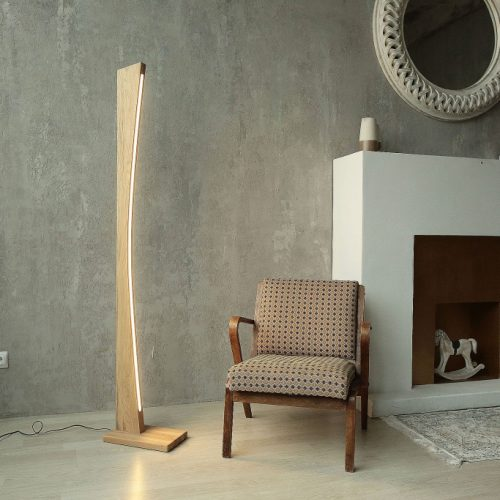 Mediniai šviestuvai, Pastatomas medinis šviestuvas MERCURY