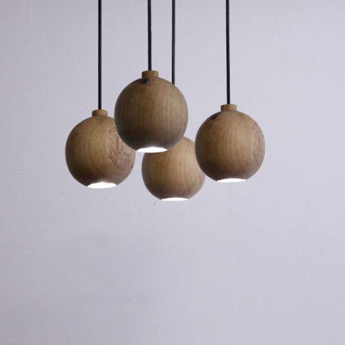 Pakabinami šviestuvai, Pakabinamas medinis šviestuvas JUPITER