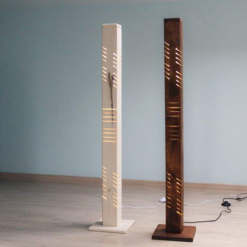 Mediniai šviestuvai, Pastatomas medinis šviestuvas MILKYWAY