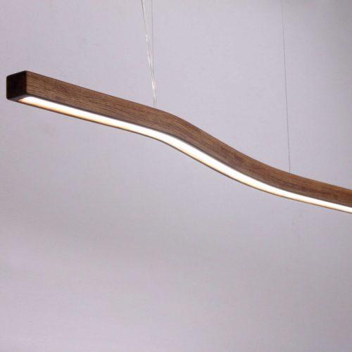 Mediniai šviestuvai, Pakabinamas medinis šviestuvas WAVE 120