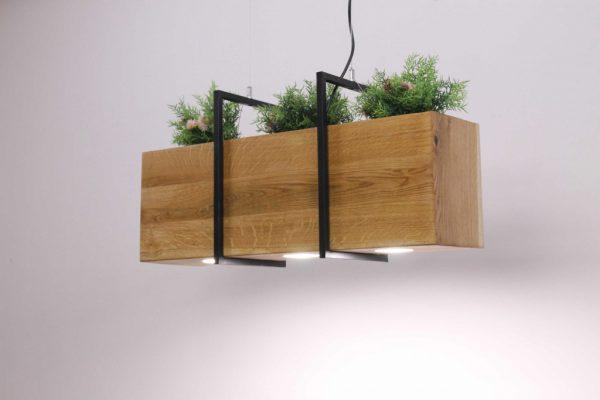 Mediniai šviestuvai, Pakabinamas medinis šviestuvas SKYLINE FLORA