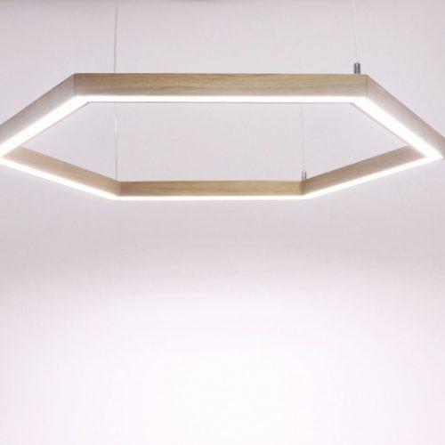 Mediniai šviestuvai, Pakabinamas medinis šviestuvas SOTA ø60