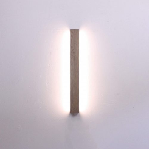 Rankų darbo mediniai šviestuvai, Sieninis medinis šviestuvas OSKAR WL 50cm