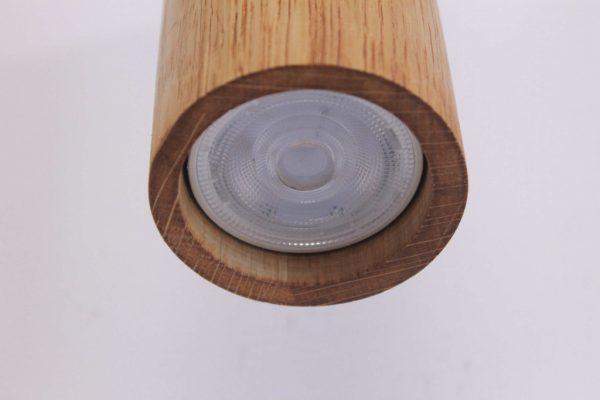 Mediniai šviestuvai, Pakabinamas medinis šviestuvas SPOT 30CM