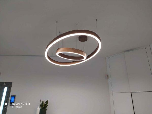 Mediniai šviestuvai, Pakabinamas medinis šviestuvas 60ø ROUNDEVU
