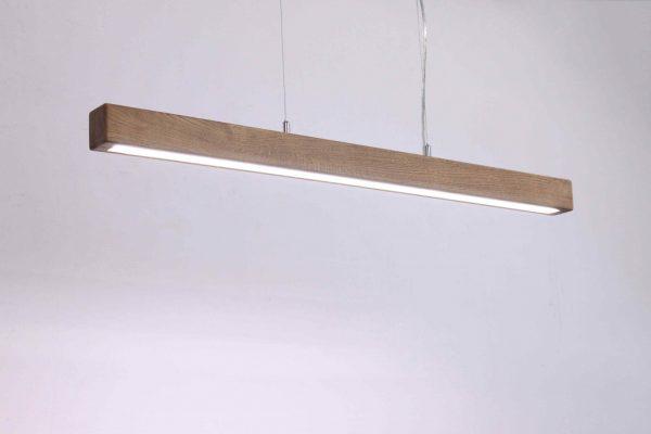 Mediniai šviestuvai, Pakabinamas medinis šviestuvas ULTRA SLIM 100cm