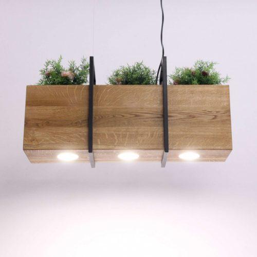 Pakabinami šviestuvai, Pakabinamas medinis šviestuvas SKYLINE FLORA