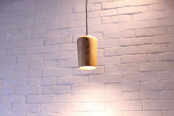 Mediniai šviestuvai, Pakabinamas medinis šviestuvas Wineglass XL