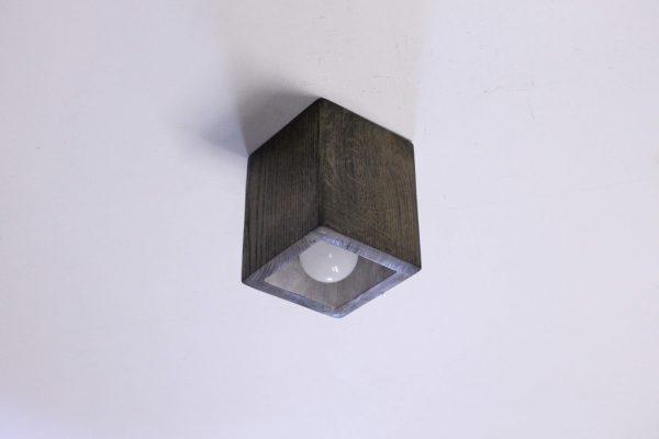 Rankų darbo mediniai šviestuvai, Lubinis šviestuvas Spot Box