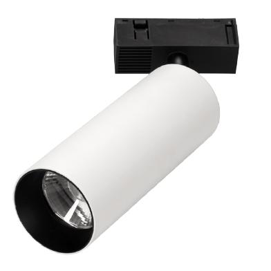 Montuojami į bėgėlį šviestuvai, INSIGHT SPOT prožektorius į 48V bėgelių sistemą, 19W, 3000K, 30°, juoda/balta