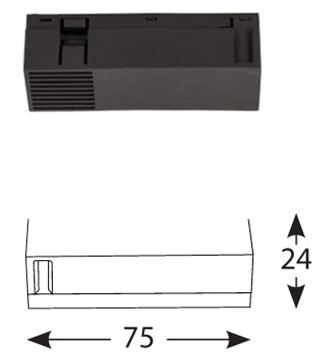 Magnetinės apšvietimo sistemos, INSIGHT FEED elektrinė linijinė jungtis, 48V DC, juoda