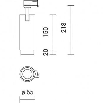 Biurų apšvietimas, NOVUS SPOT OUT TRACK, LED CREE, 15°, 1050lm, 16W