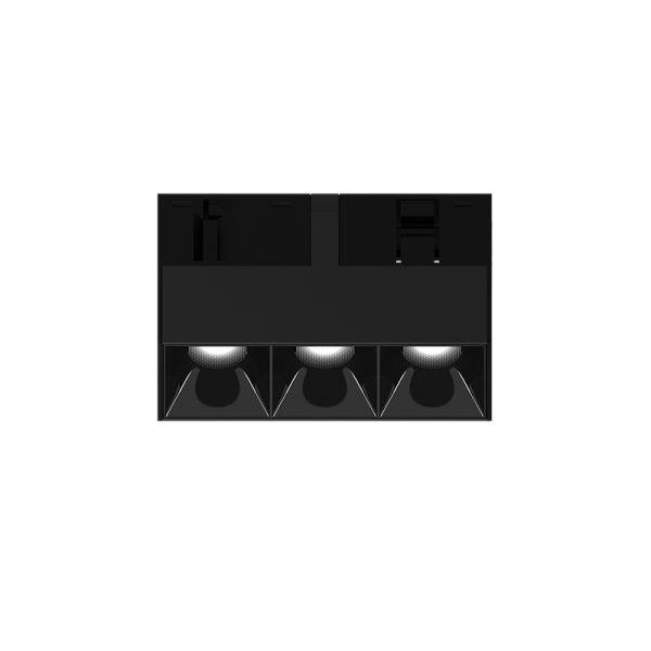 Bėginės sistemos, INSIGHT DARK LIGHT šviestuvas į 48V bėgelių sistemą, 5W, 3000K, 35°, juodas