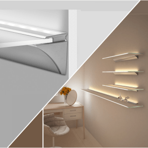 LED profiles for glass