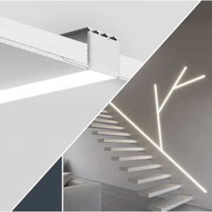 Covered LED profiles