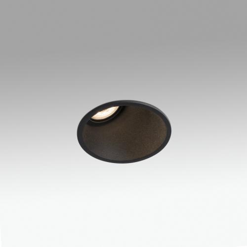 Biurų apšvietimas, Įleidžiamas šviestuvas FRESH wall washer BLACK 02100602