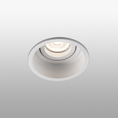 Berėmiai užglaistomi šviestuvai, Įleidžiamas kryptinis šviestuvas HYDE round Baltas
