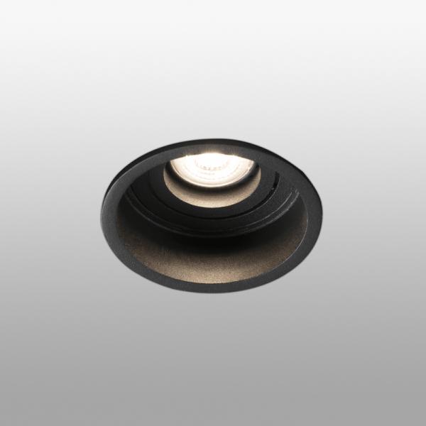 Biurų apšvietimas, Įleidžiamas kryptinis šviestuvas šviestuvas HYDE round Juodas