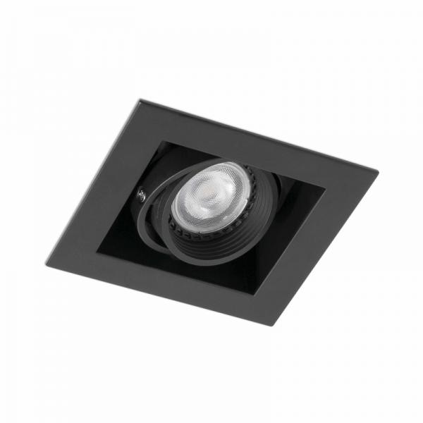 Biurų apšvietimas, Įleidžiamas kryptinis šviestuvas FALCON-1 Black 03020402