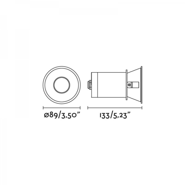 Berėmiai užglaistomi šviestuvai, Įleidžiamas šviestuvas FRESH White IP65 02101401