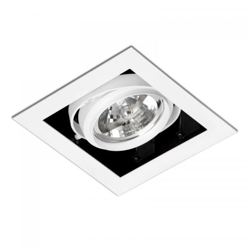 Biurų apšvietimas, Įleidžiamas kryptinis šviestuvas GINGKO ORIENT WHITE 1L 03030101